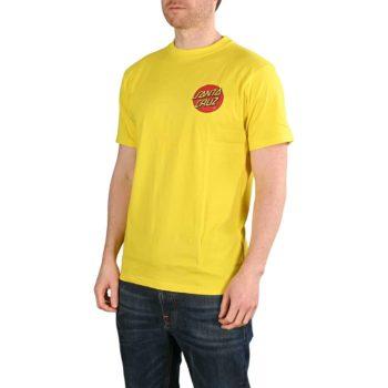 Santa Cruz Classic Dot Chest T-Shirt - Blazing Yellow