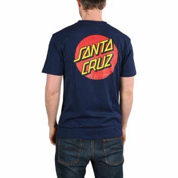 Santa Cruz Classic Dot Chest T-Shirt - Dark Navy