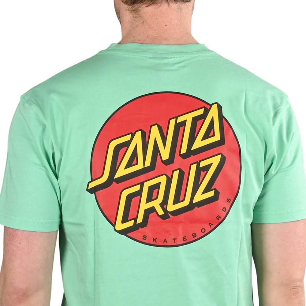 Santa Cruz Classic Dot Chest T-Shirt - Jade Green