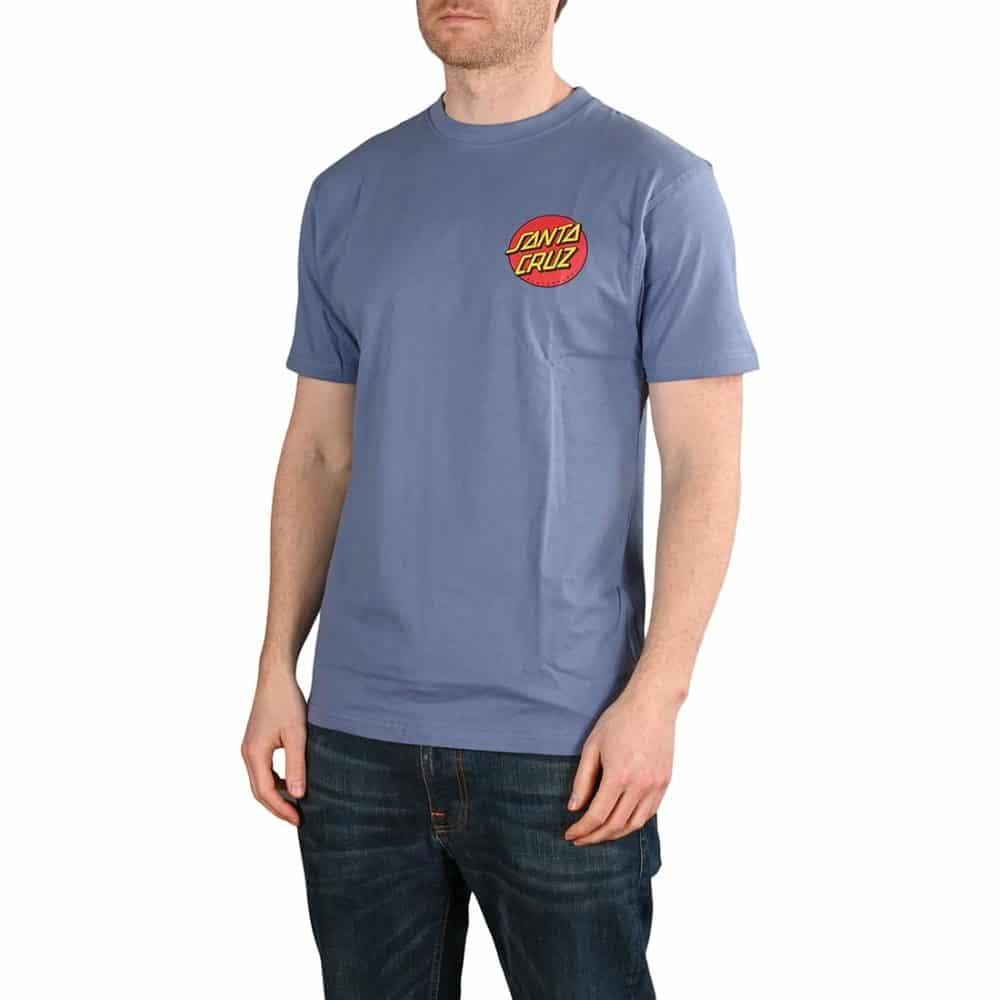 Santa Cruz Classic Dot Chest T-Shirt - Washed Navy