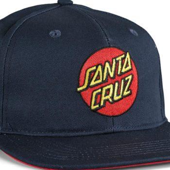 Santa Cruz Classic Dot Snapback Cap - Dark Navy