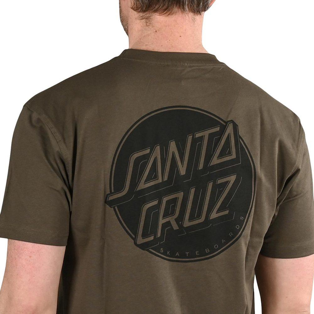 Santa Cruz Contra Dot Mono S/S T-Shirt - Washed Black