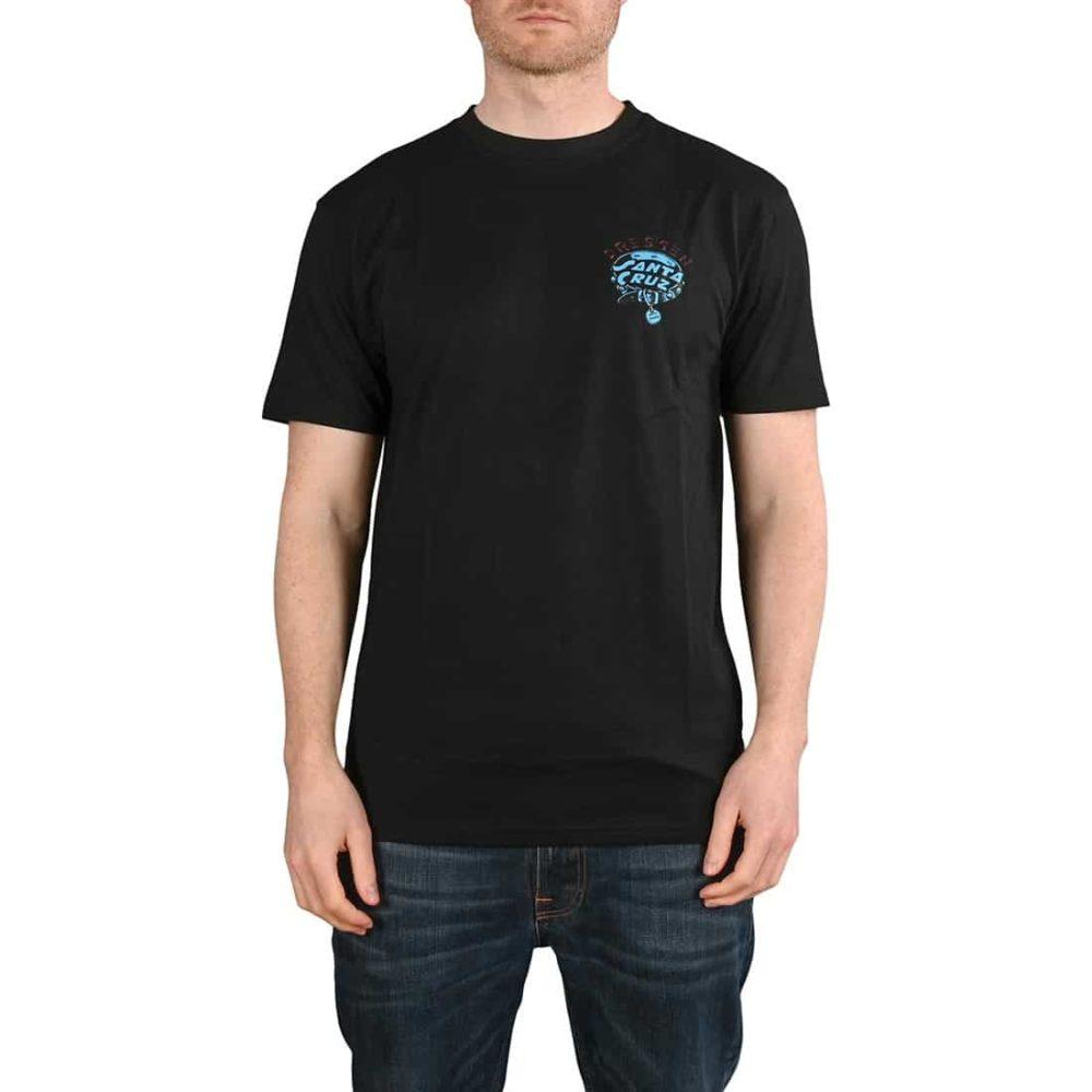 Santa Cruz Dressen Pup Dot S/S T-Shirt - Black