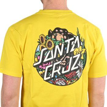 Santa Cruz Dressen Pup Dot S/S T-Shirt - Blazing Yellow