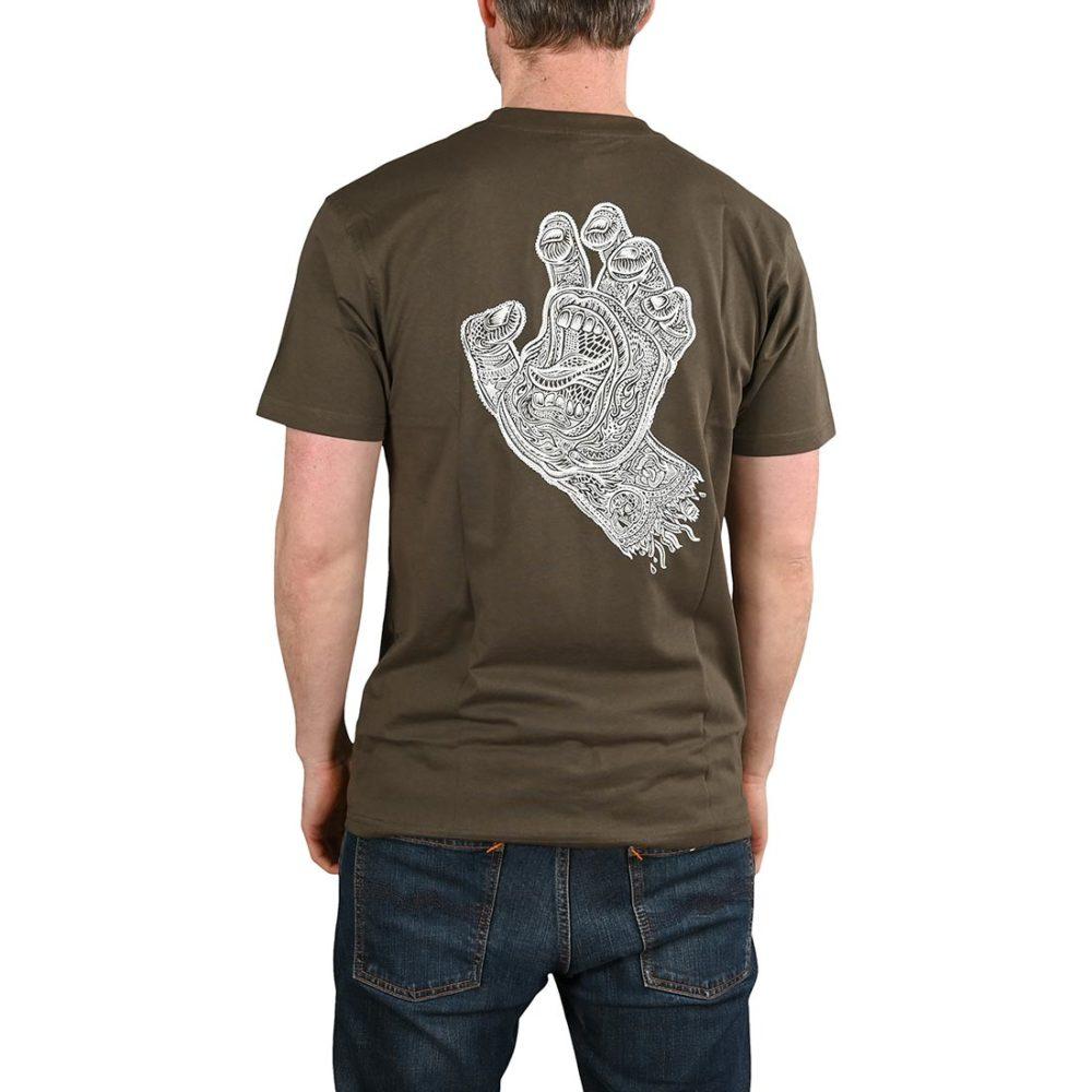 Santa Cruz Muerte Screaming Hand S/S T-Shirt - Washed Black