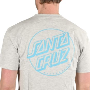 Santa Cruz Opus Dot Stripe S/S T-Shirt - Athletic Heather