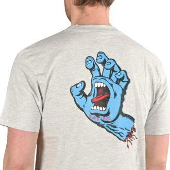 Santa Cruz Screaming Hand Chest T-Shirt - Athletic Heather