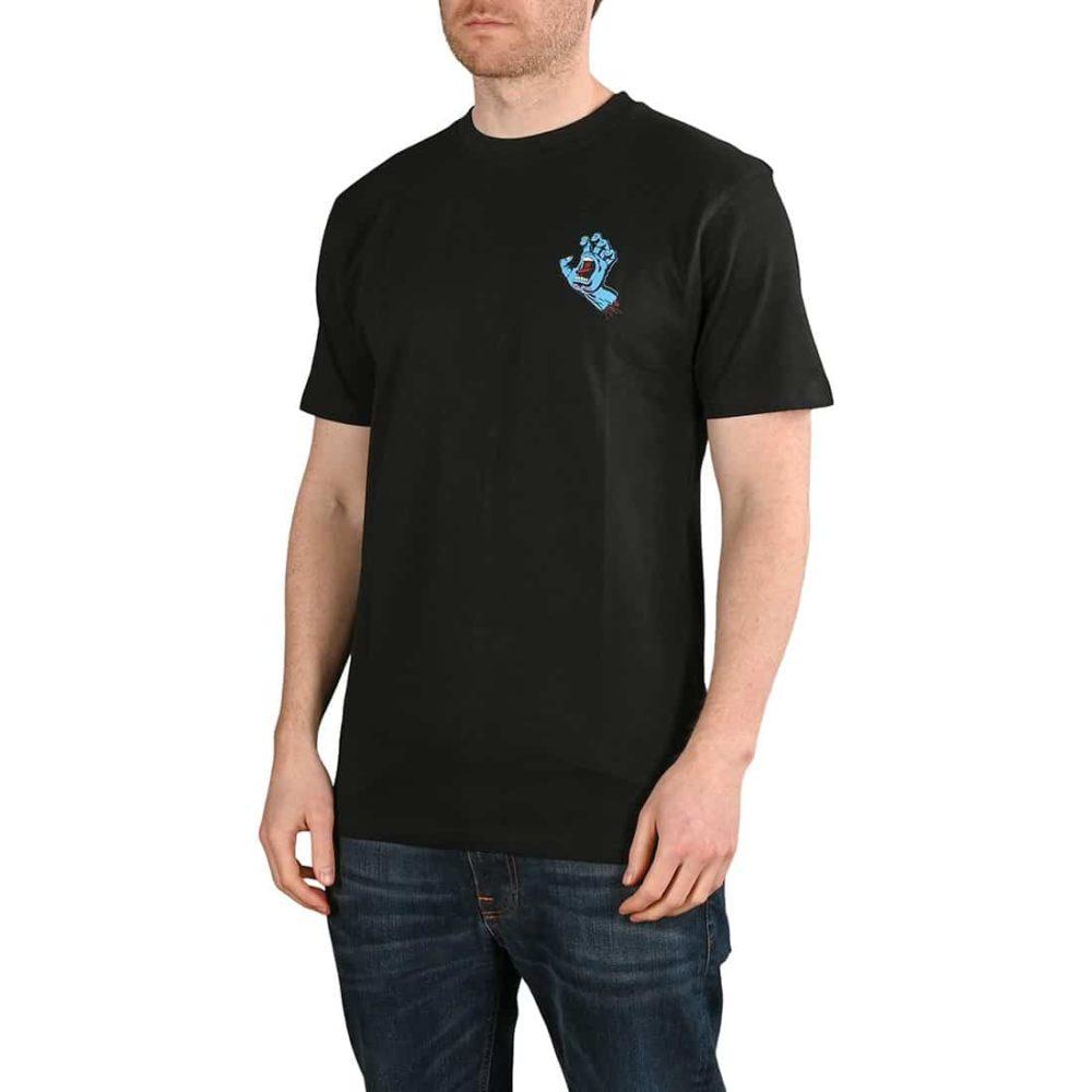 Santa Cruz Screaming Hand Chest T-Shirt - Black