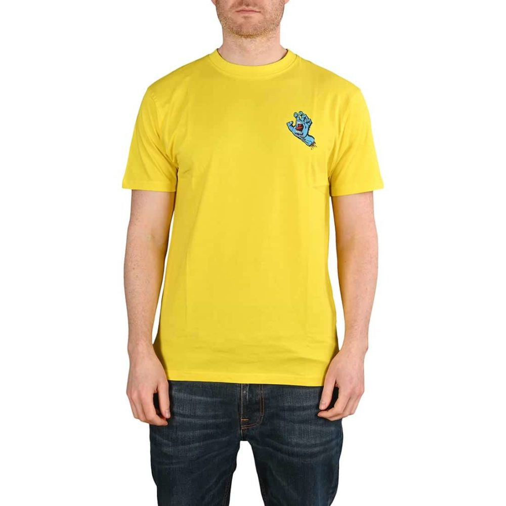 Santa Cruz Screaming Hand Chest T-Shirt - Blazing Yellow
