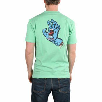 Santa Cruz Screaming Hand Chest T-Shirt - Jade Green