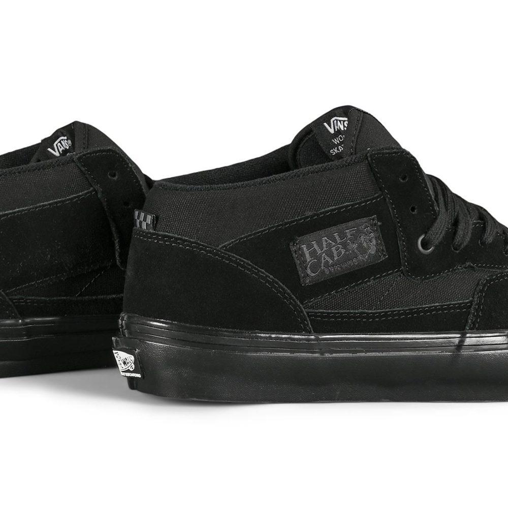 Vans Half Cab Pro Skate Shoes - Black / Black