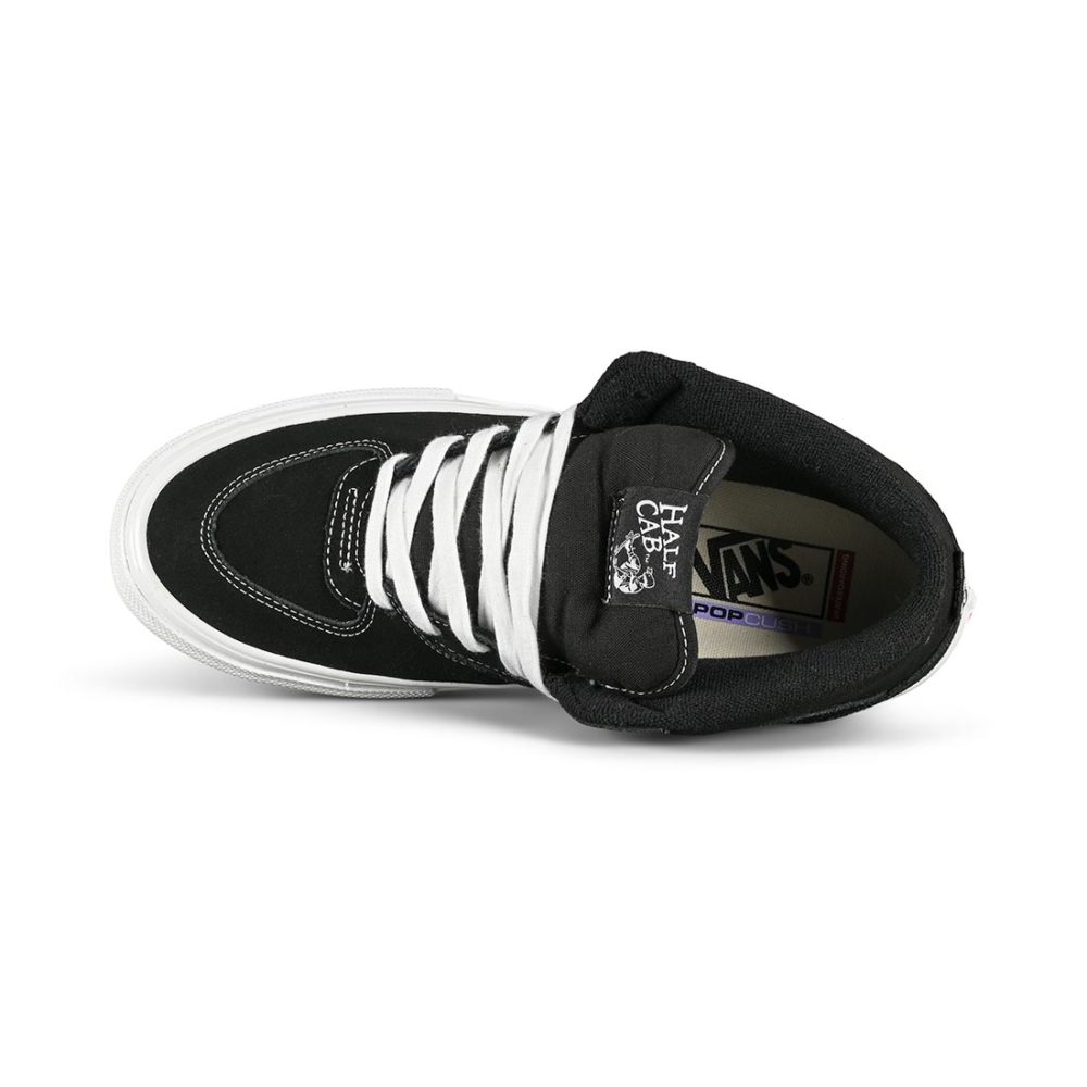 Vans Half Cab Pro Skate Shoes - Black / White