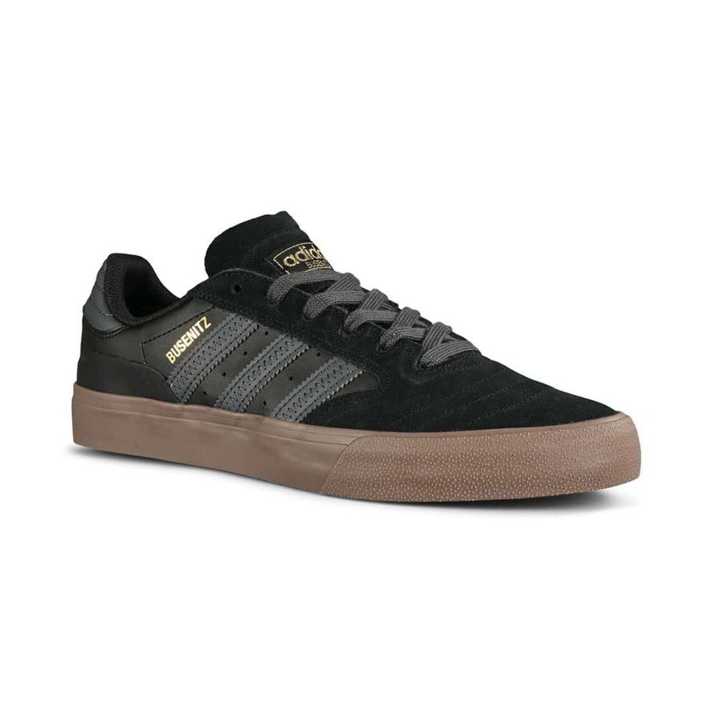 Adidas Busenitz Vulc II Skate Shoes - Core Black / Grey / Gum