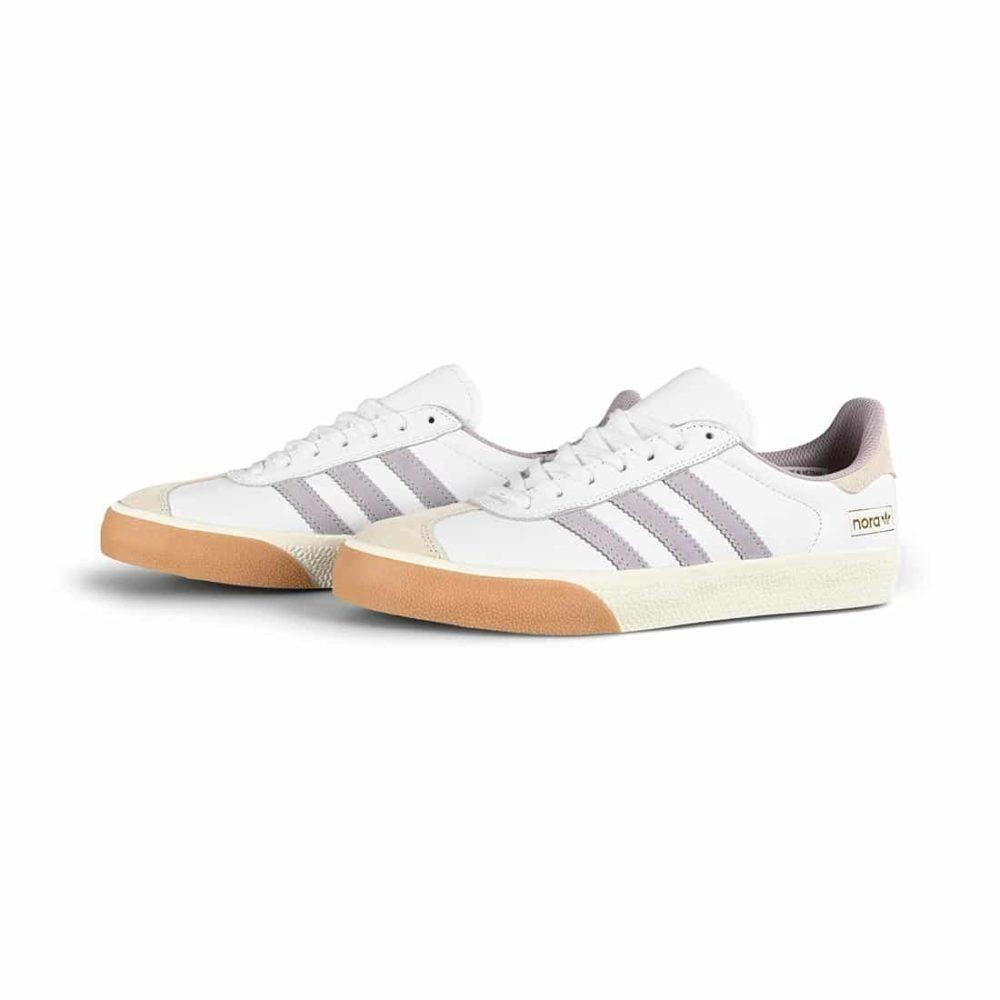 Adidas Nora Gazelle ADV Skate Shoes - Cloud White / Soft Vision / Gum