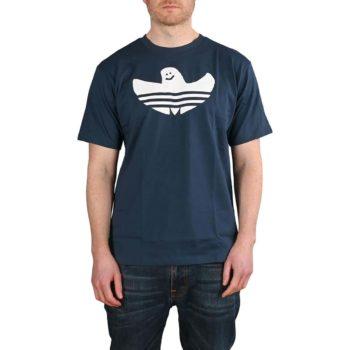 Adidas Shmoofoil Logo S/S T-Shirt - Crew Navy / White