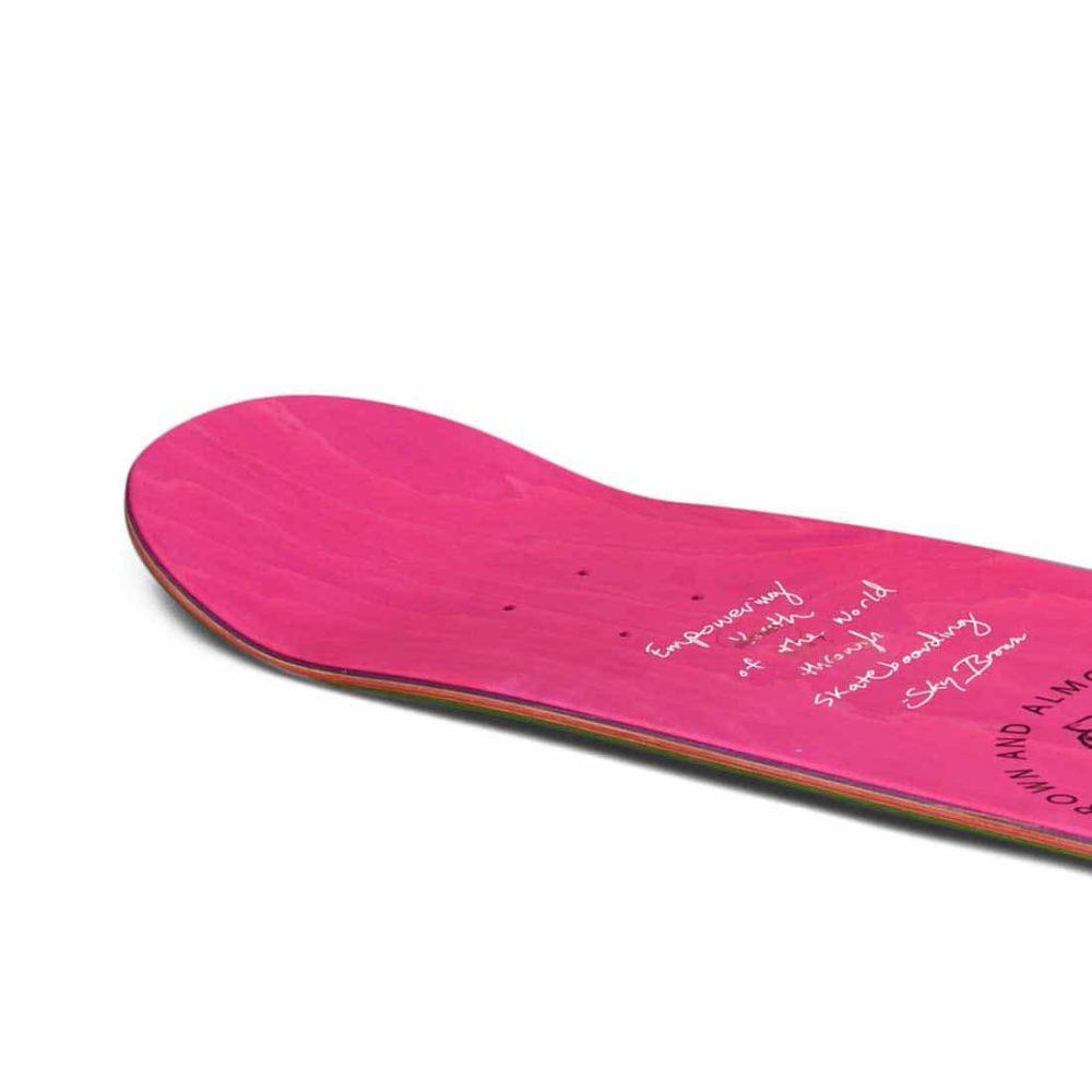 "Almost Skateistan Sky Brown Doodle R7 7.75"" Skateboard Deck - Mint"