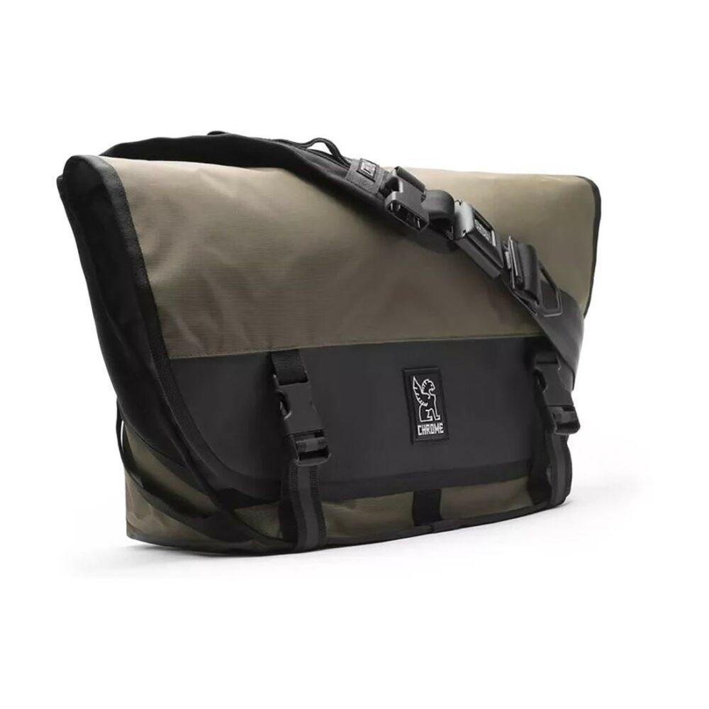 Chrome Mini Metro Welterweight 20.5L Messenger Bag - Military Olive / Black