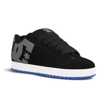 DC Court Graffik Skate Shoes - Black / Grey / Blue