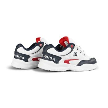 DC Decel SN Skate Shoes - White / Red / Blue