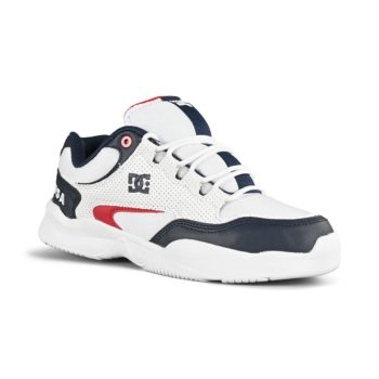 DC Decel SN Skate Shoes - White / Red / Blue