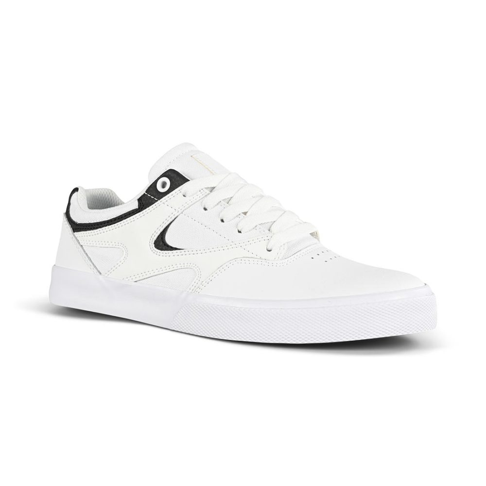 DC Kalis Vulc Skate Shoes - White / Black