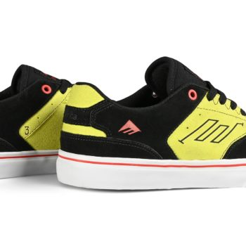 Emerica The Low Vulc Skate Shoes - Black / Green