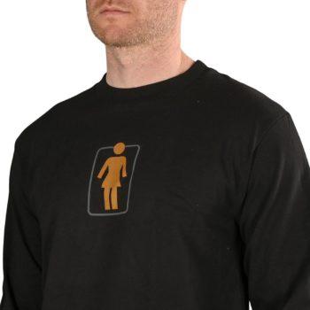 Girl Skateboards Heritage Unboxed L/S T-Shirt - Black