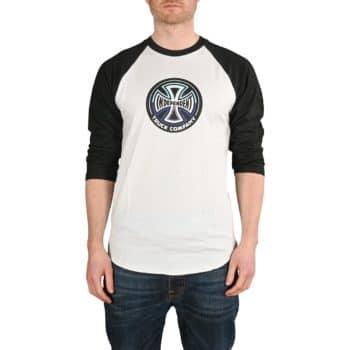 Independent Split Cross 3/4 Baseball T-Shirt - Black / White