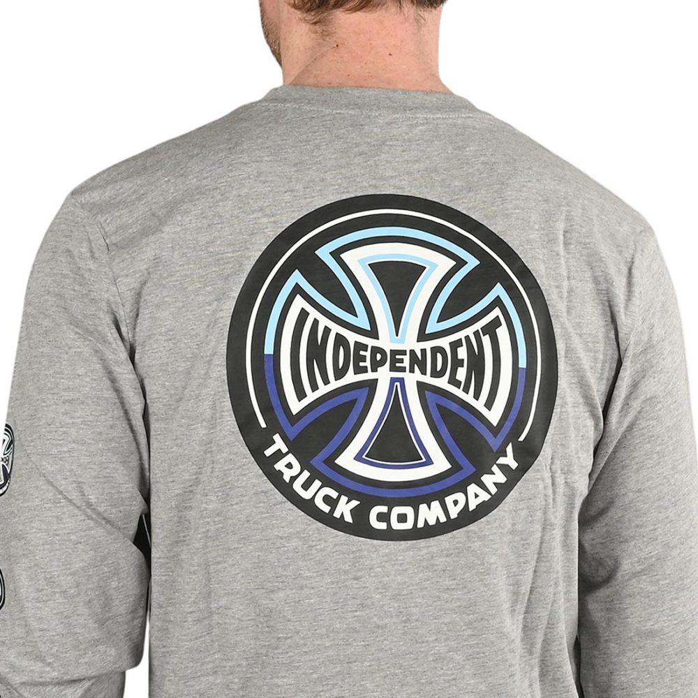 Independent Split Cross L/S T-Shirt - Dark Heather