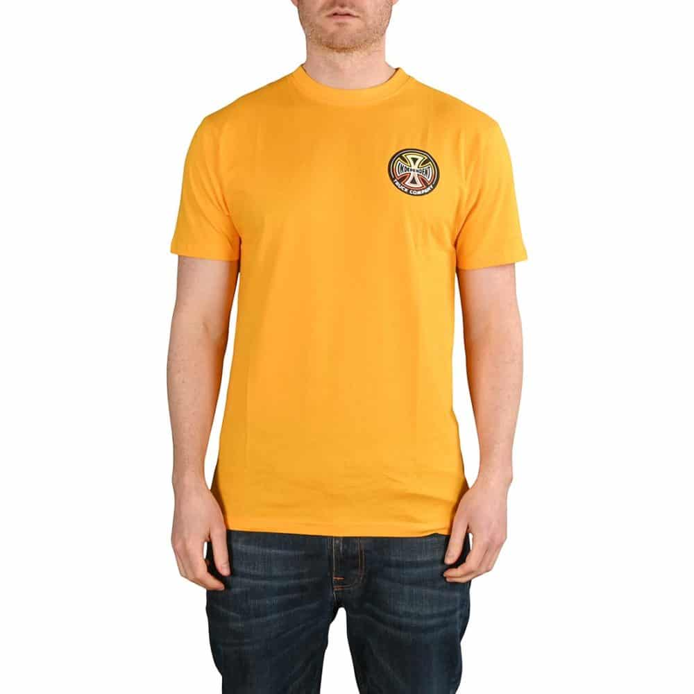 Independent Split Cross S/S T-Shirt - Gold