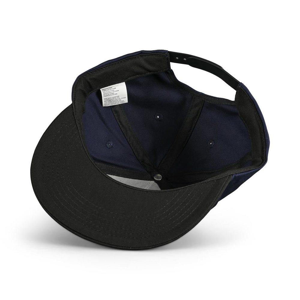 Independent Split Cross Snapback Cap - Dark Navy / Black