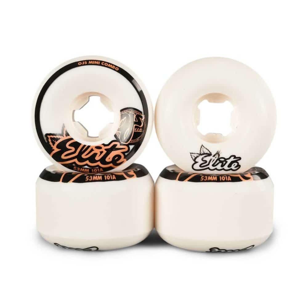 OJ Elite Mini Combo 101a 53mm Skateboard Wheels - White