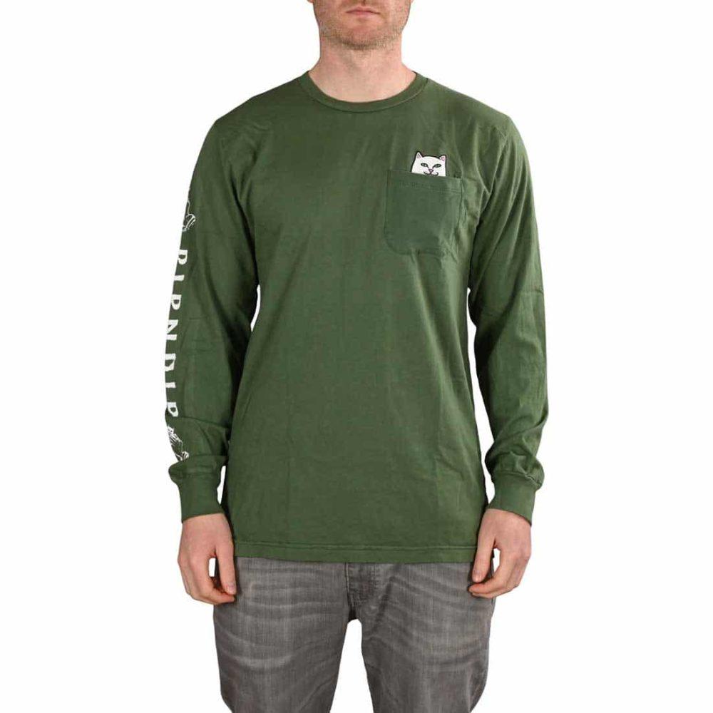 RIPNDIP Lord Nermal L/S Pocket T-Shirt - Olive