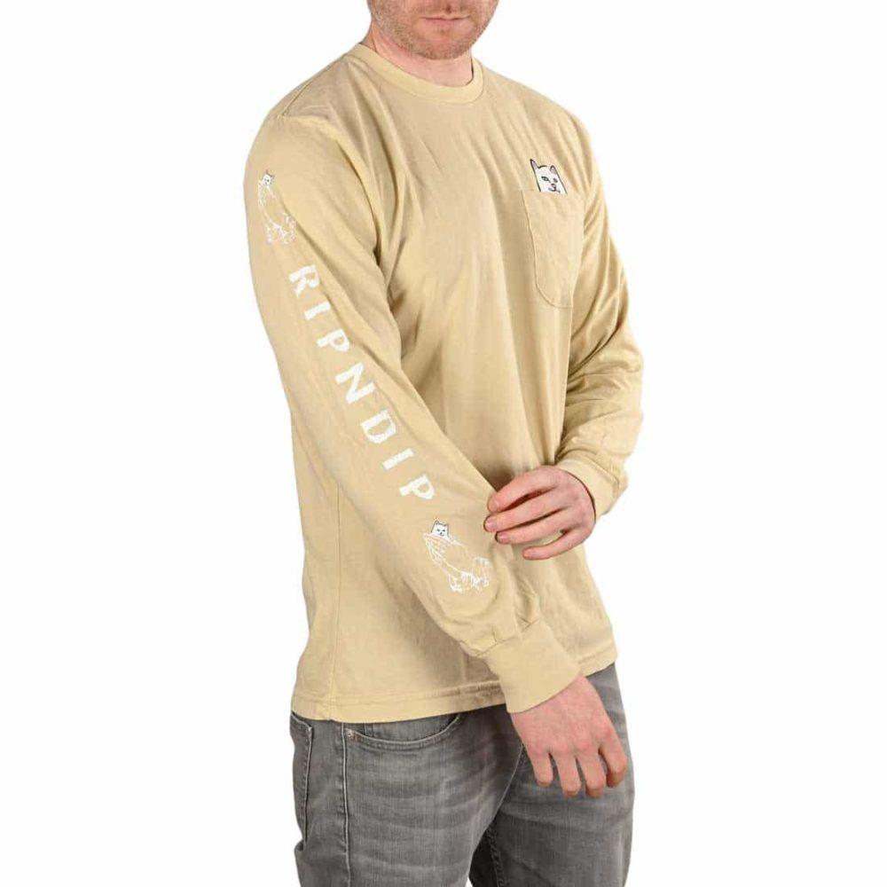RIPNDIP Lord Nermal L/S Pocket T-Shirt - Tan
