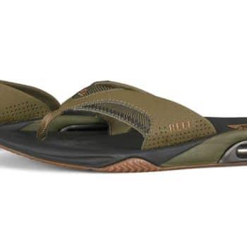 Reef Fanning Prints Mens Sandals - Olive Swells