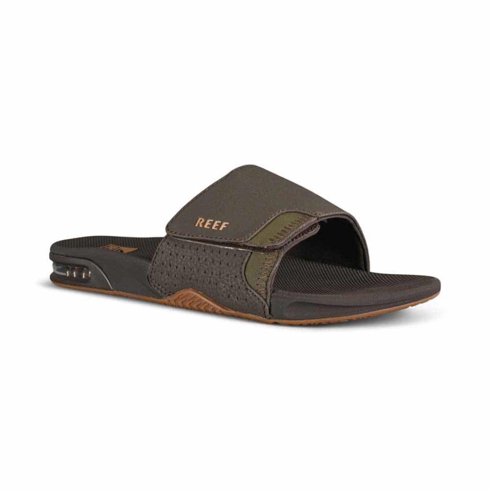 Reef Fanning Slide Sandals - Brown / Gum