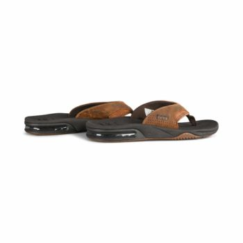 Reef Leather Fanning Sandals - Bronze