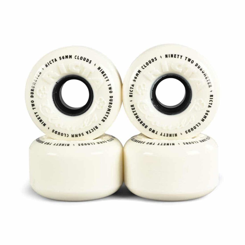 Ricta Clouds 92a 56mm Skateboard Wheels - White