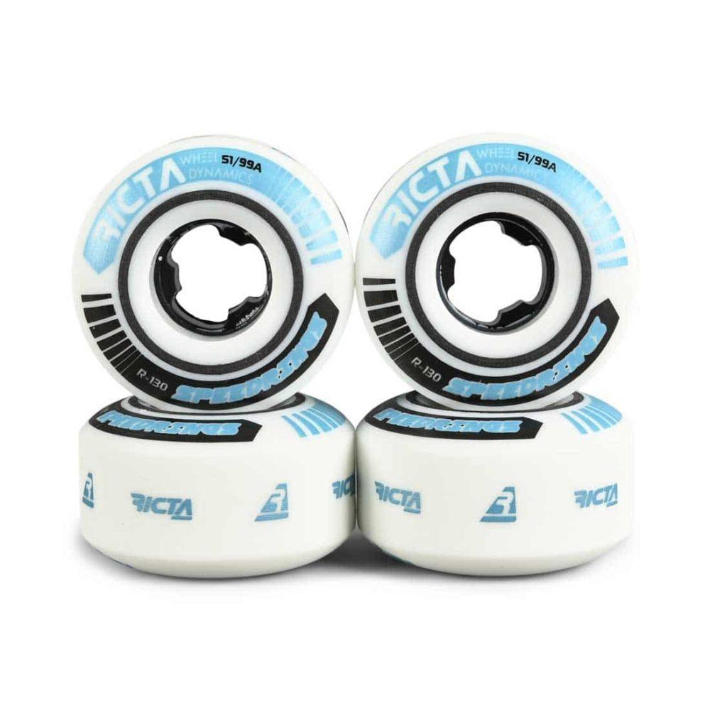 Ricta Speed Rings Slim 99a 51mm Skateboard Wheels - White