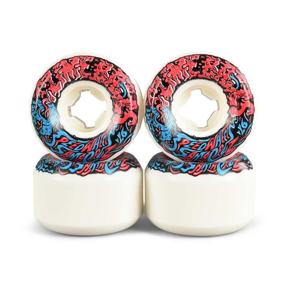 Slime Balls Vomit Mini II 97a 53mm Skateboard Wheels - White