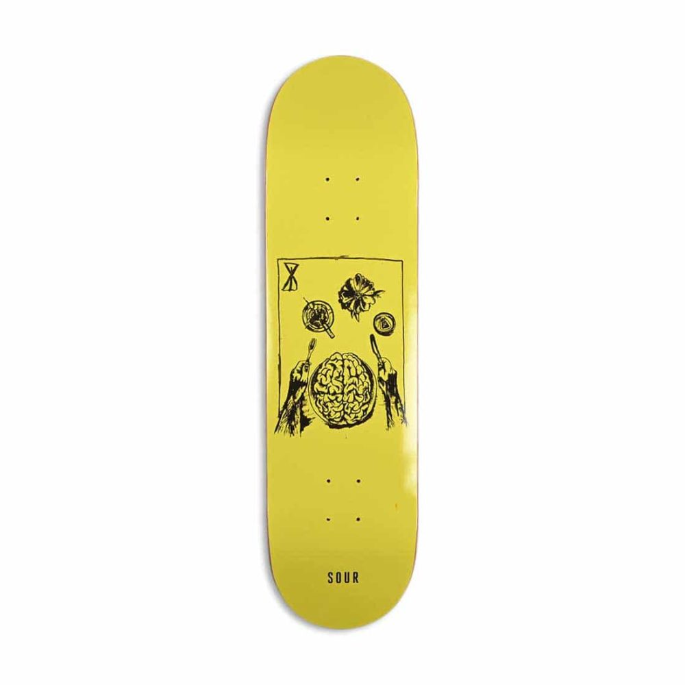 "Sour Solution Brainfeast 8.375"" Skateboard Deck - Yellow"