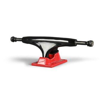 Tensor Alloys Skateboard Trucks (Pair) - Black / Red