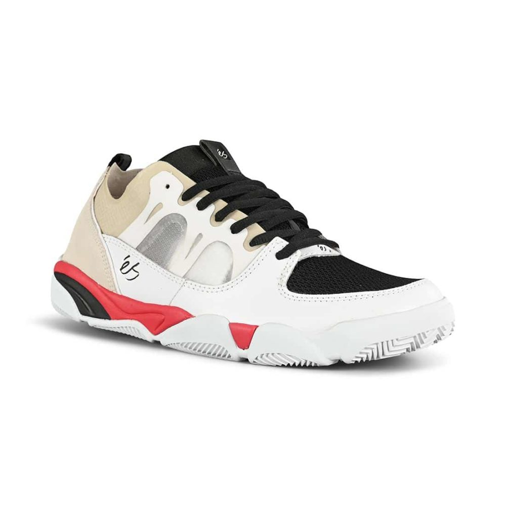eS Silo Skate Shoes - White / Black / Red