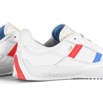 Adidas Puig Skate Shoes - White/Blue Bird/Vivid Red