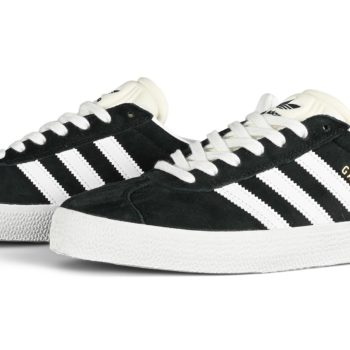 Adidas Gazelle ADV Skate Shoes - Black/White/Gold