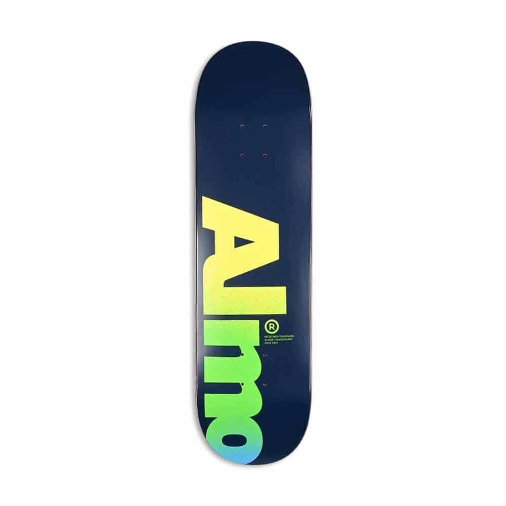 """Almost Fall Off Logo HYB 8.5"""" Skateboard Deck - Blue"""