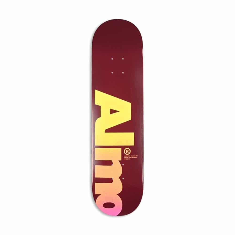 """Almost Fall Off Logo HYB 8"""" Skateboard Deck - Magenta"""