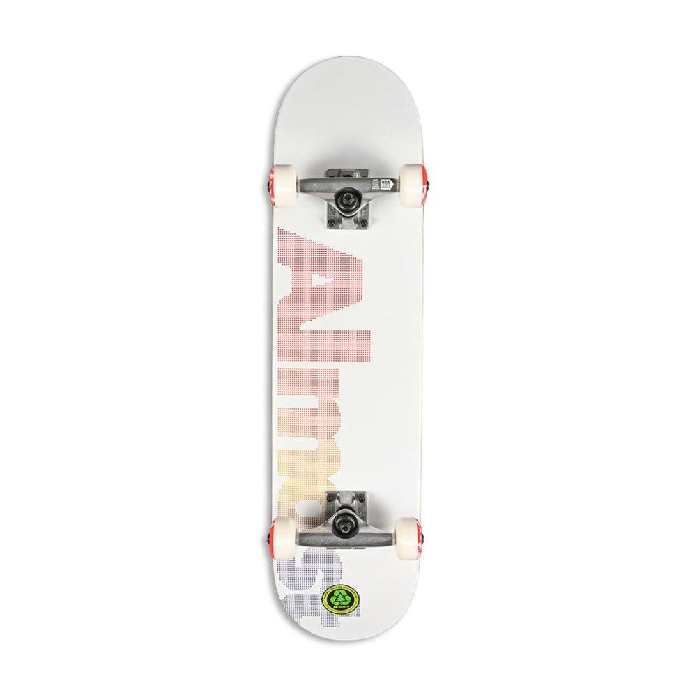 """Almost Dot Logo FP 7.75"""" Complete Skateboard - White"""