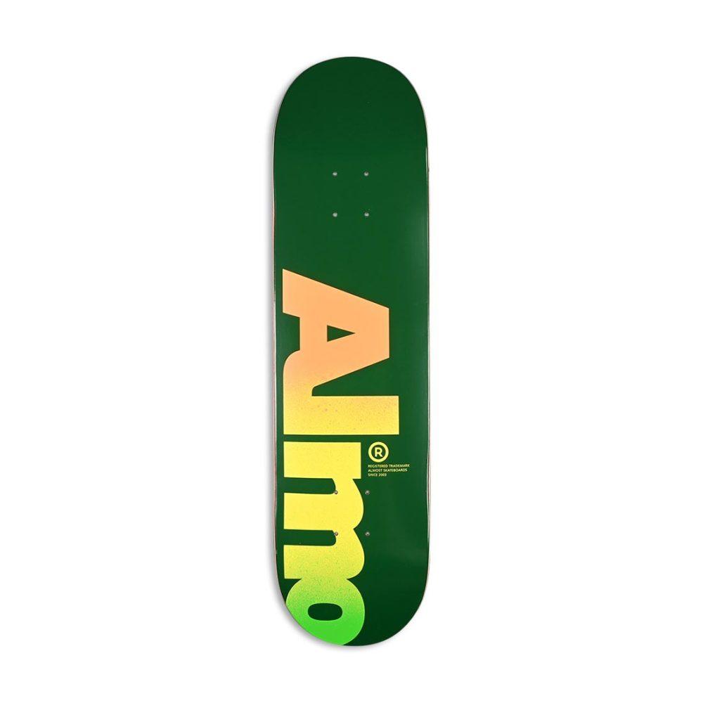 "Almost Fall Off Logo HYB 8.25"" Skateboard Deck - Green"