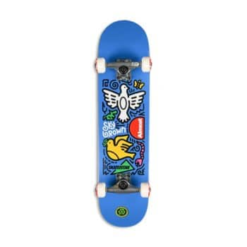 """Almost Skateistan Sky Doodle FP 7.5"""" Complete Skateboard - Blue"""